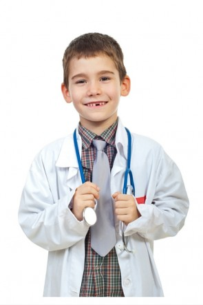 Children's Unisex Lab Coat White Doctor Coat