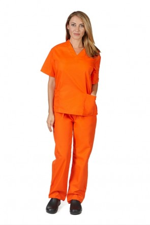 Orange Scrub Set-Orange is the New Black Style