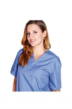 Unisex 1 Pocket Scrub Top Box of 10 7768