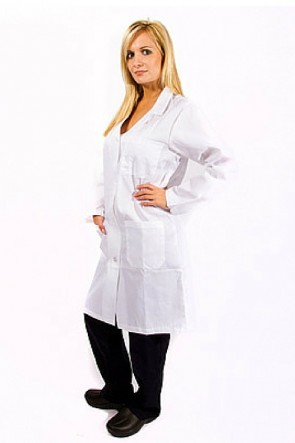 Unisex Knee Length Lab Coat Set of 4